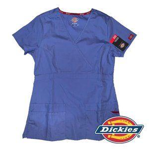 Dickies Womens EDS Scrubs Jr. Fit Mock Wrap Top